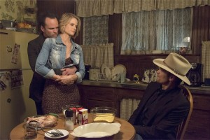 Just another happy meal for Boyd, Ava and Raylan. Photo/FX