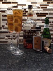 Vanilla Bean Bourbon Champagne Cocktail