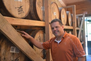 Buffalo Trace master distiller Harlen Wheatley in experimental Warehouse X. Photo by Chad Carlton