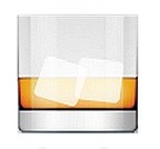 Whiskey glass emoji